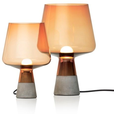 Leimu lamps by Magnus Pettersen for Iittala - Copper glass shade and concrete base