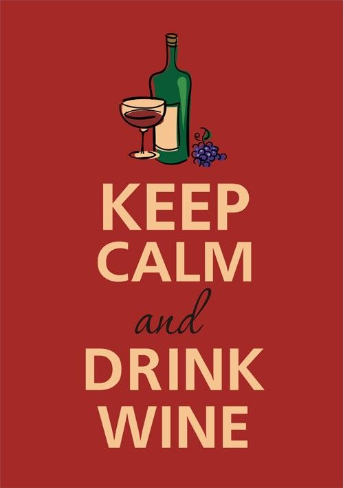 Keep calm and drink wine by Gayana on Etsy