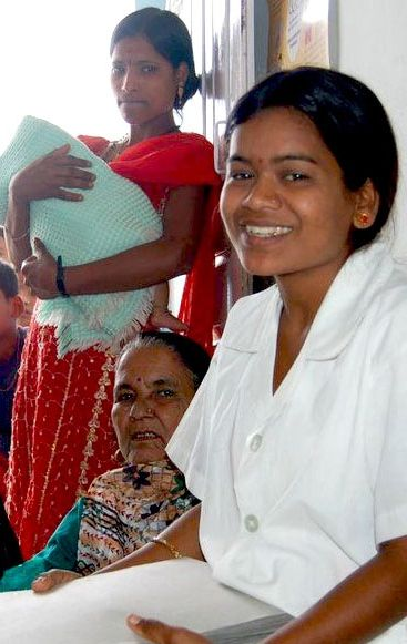 Pay a Nurse Midwife's Salary for a Week Item # 28337 A Midwife in Nepal