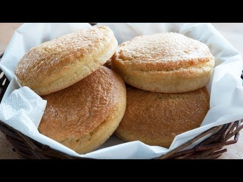 Almond buns for burgers and sandwiches - Paleo buns ............Ingredients yields 6  6 eggs (M/L) 100 g (3½ oz) butter (or any other type of fat) 150 g (6 oz) almond flour - (3 dl (1½ cup)) 2 tsp baking powder