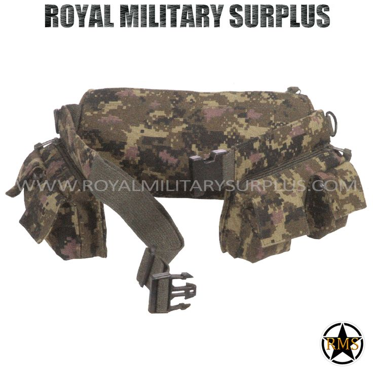 Belt - Tactical SWAT Pack - CADPAT (Temperate Woodland) - 36,95$ (CAD) | CADPAT TW (Temperate Woodland) Disruptive Camouflage Digital Pattern - 4 Colors SWAT/Special Forces Design Made following Military Specifications 2 Compartments (Front - Zipper) 4 Pockets (Front - Flap) 1 Large Pouch (Back - Zipper) Heavy Duty Cotton Canvas Web Belt ( D-Ring System (2 - Side) ALICE & MOLLE System Compatible One Size (Adjustable) Visit our Website at www.royalmilitarysurplus.com