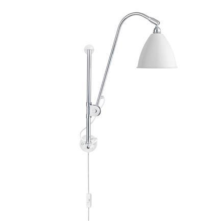 BL5 Matt væglampe, white/chrome, Robert Dudley Best, Gubi