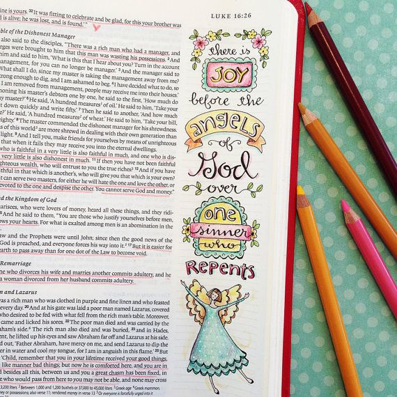 Luke 15 21 Color Your Own Bookmarks Bible Journaling Illustrated Faith INSTANT DOWNLOAD Scripture Digital Printable Christian Religious