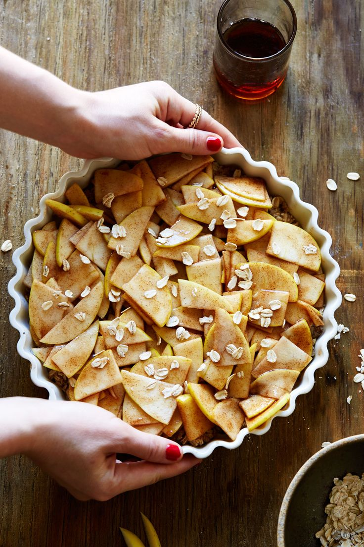 Healthy Apple Tart with Oat & Almond Crust - and it's Gluten-Free & Dairy-Free!