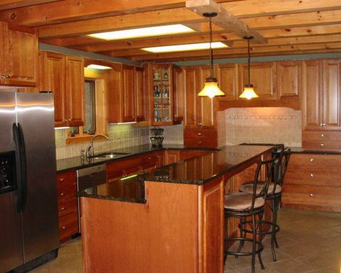 Interior Pictures Of Log Homes | Home Kitchen Photos On Log Home Kitchens  Kitchen Decorating Ideas