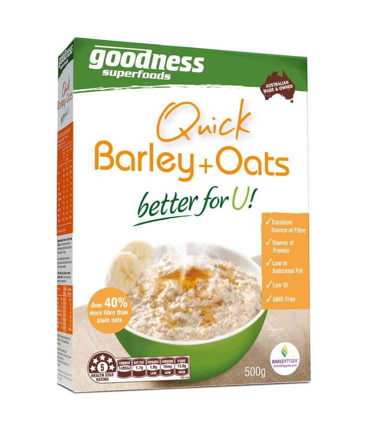 Goodness Superfoods | Quick Barley + Oats