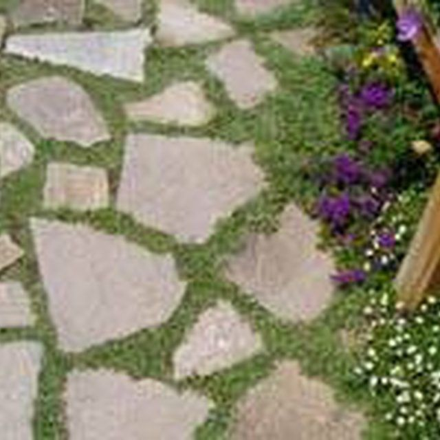 Lovely Make A Patio Floor With Recycled Concrete Slabs