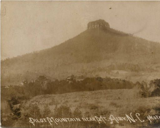 Pilot Mountain Near Mount Airy N C North Carolina Postcards
