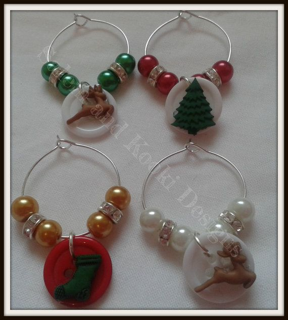 Brighten up your dinner table this Christmas with these funky little wine glass charms!