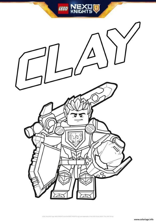 fresh nexo knights clay coloring pages  sket coloring