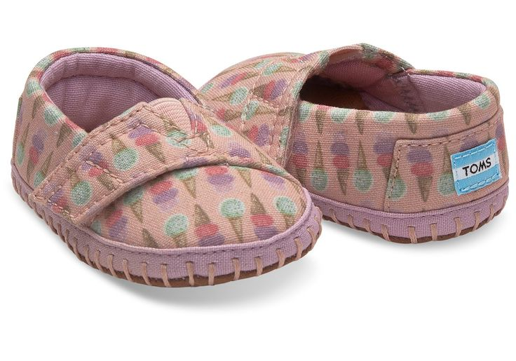 Pink Ice Cream Cone Tiny Toms Crib Alpargatas #icecreamtinytoms