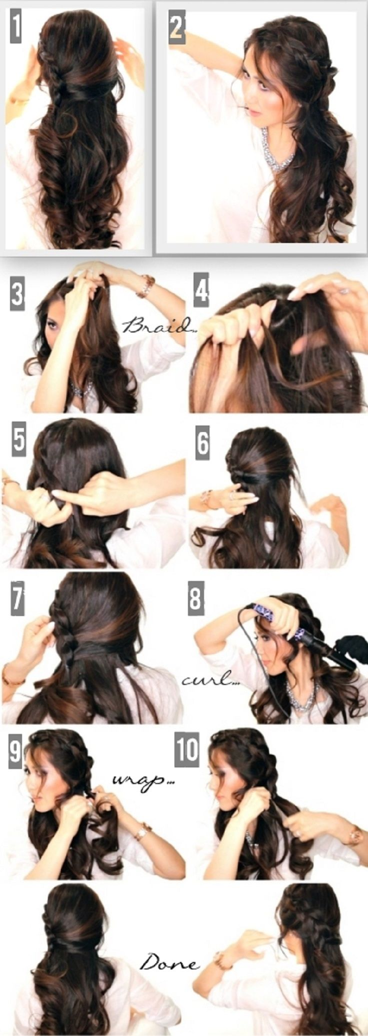 Top 10 Half Up Half Down Hair Tutorials You Must Have #hair #hairstyles #hairdo #popular