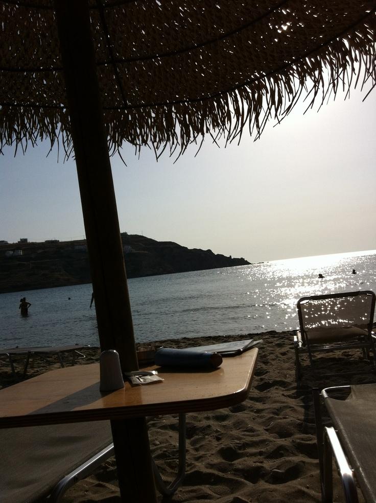 Kini beach, Syros, Greece