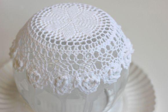 lace doily bowl