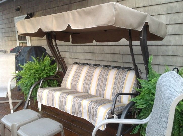 Beautiful Patio Swing Converts to Bed