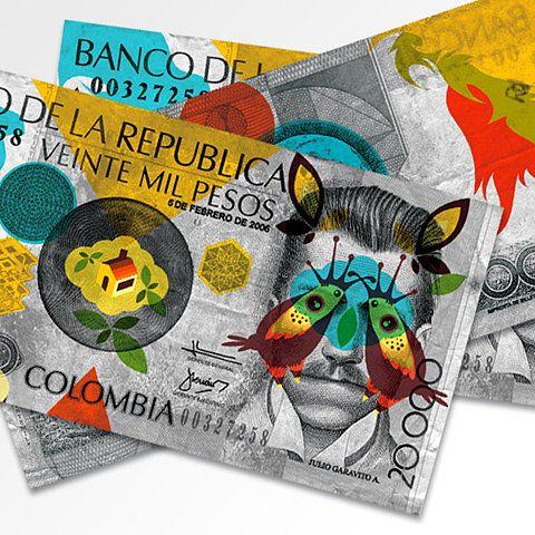 Billetes llenos de arte y color