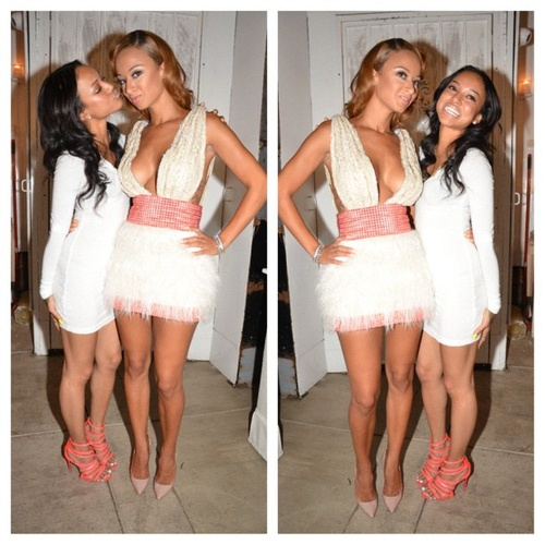 all white affair with these beauties Draya Michele & Karreuche Tran