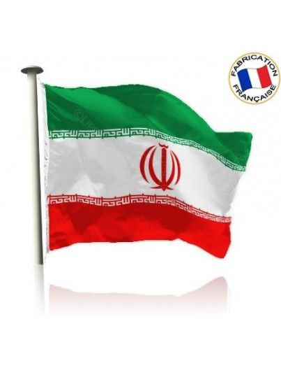 Drapeau Iran Made In France by Manufêtes