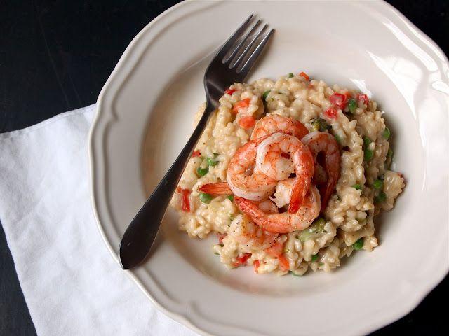 Risotto Primavera with Shrimp