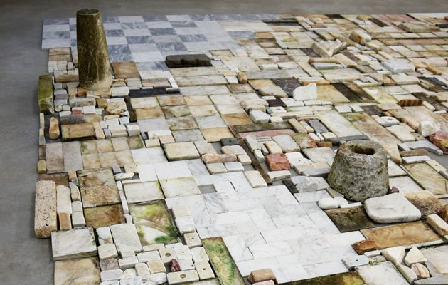 Chiara Camoni - Senza titolo, mosaico 2011-2012 Marble 390 x 430 x 45 cm (variable size) Courtesy SpazioA, Pistoia - See more at: http://www.strozzina.org/en/artists/camoni/#sthash.2gdwrhcs.dpuf