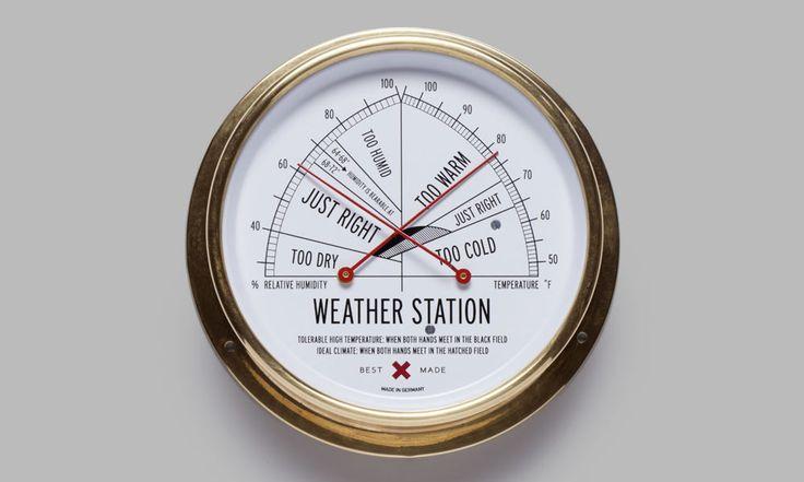 Station météo température+hygrométrie - Design Best Made