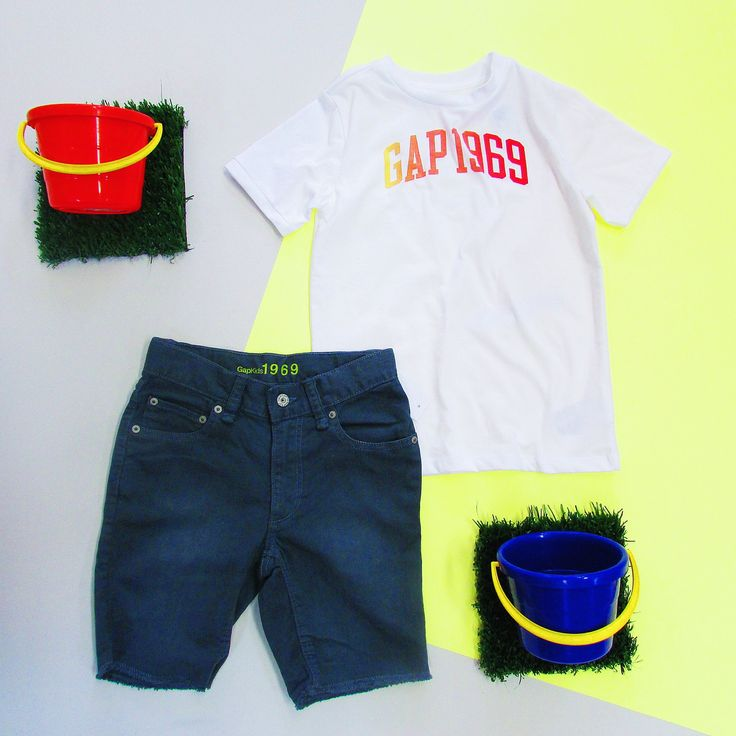 Little boys ready for the beach thanks to @GapSouthAfrica #GapKids