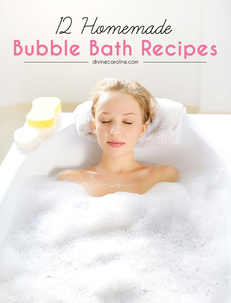 These simple, luxurious bubble bath recipes mean you'll never have to leave the house to grab bubble bath again. Bonus points: they cost next to nothing to make! #bubblebath #recipes