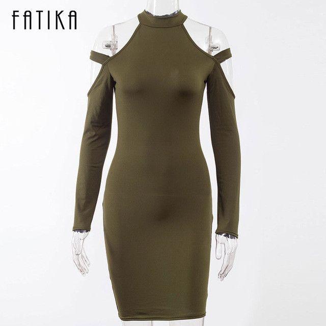 FATIKA Spring Women Elegant Party Sexy Night Club Dresses Halter Neck Sheath Bodycon Dress