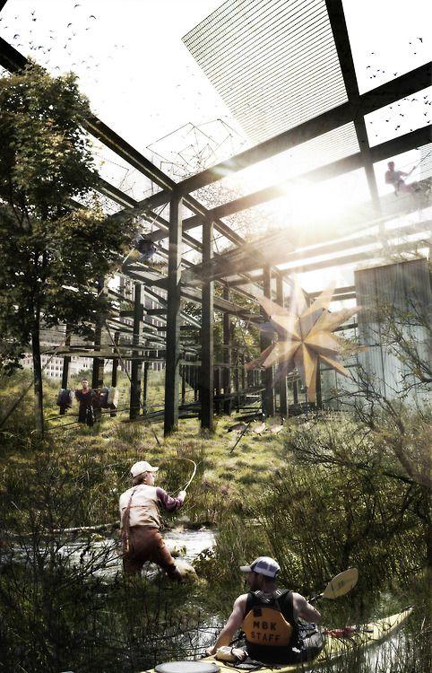Tanner Creek Corridor Gateway, Community Center/Urban Farm, Portland, USA  WFSmith Architecture