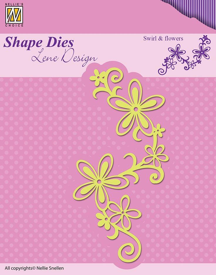 Nellie Snellen Shape Dies Lene Design Swirl and Flowers