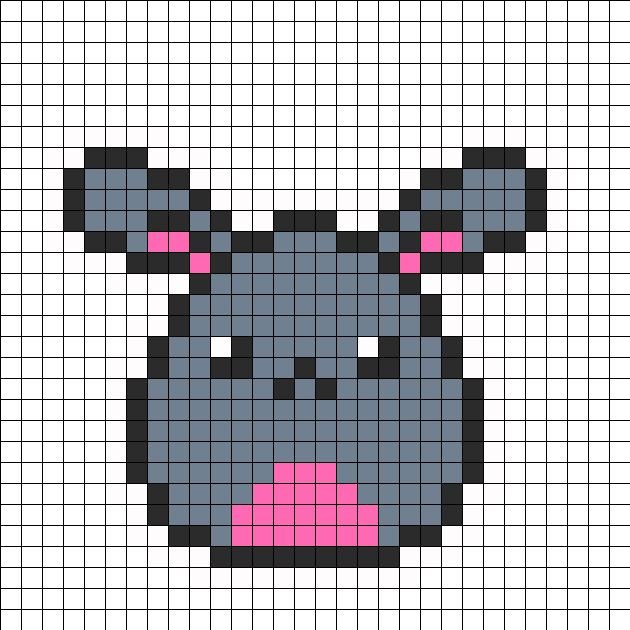 Bunny Egg Perler Bead Pattern | Bead Sprites | Animals Fuse Bead Patterns