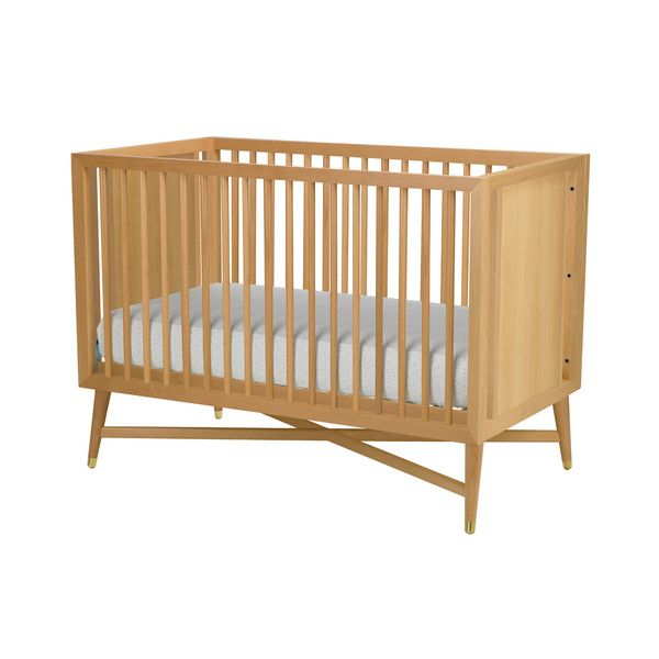 Mid-Century Natural Crib