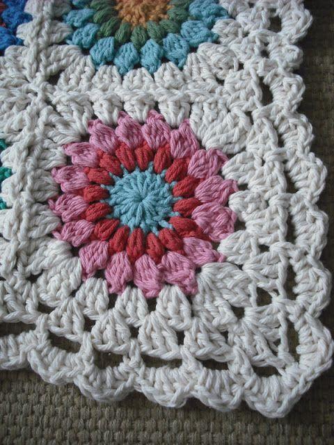Purple Chair Crochet: Sunburst Granny Square