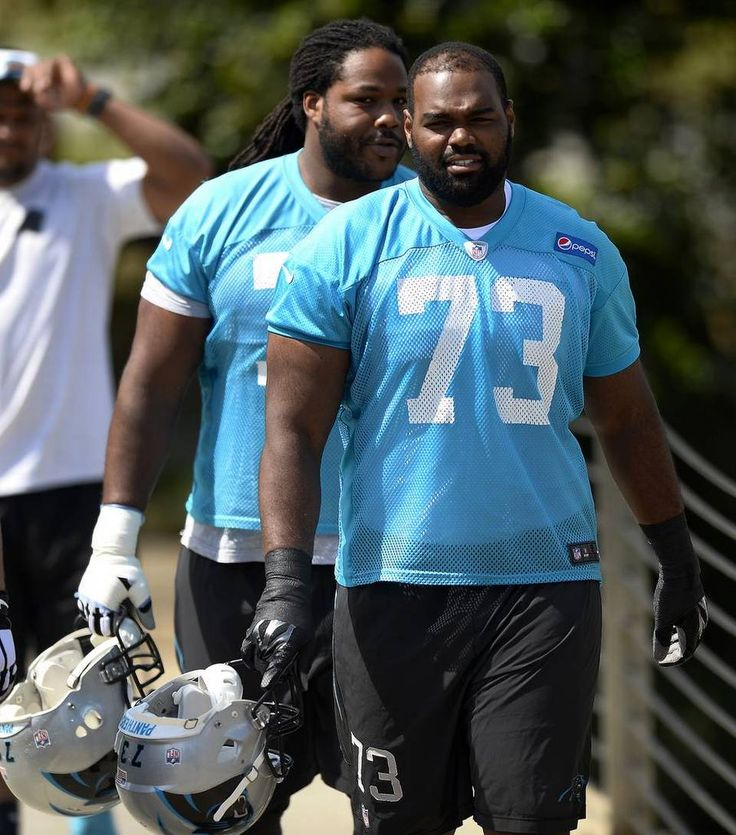 Carolina Panthers tackle Michael Oher on Thursday, May 28, 2015 in Charlotte, NC.