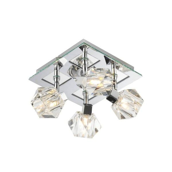 The dar lighting geo spotlight designed and manufactured by dar lighting dar lighting geo spotlight has a polished