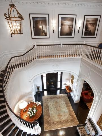 There is something about an elegant sweeping staircase that sets a girl to dreaming about Prince Charming...