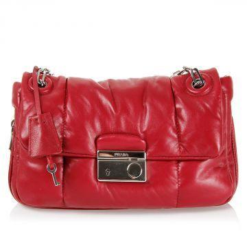 Prada leather pochette (art. B5023L 2A6L F0E06 00 P101 2014 08754 ...