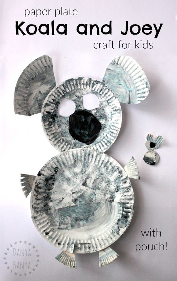 Paper plate koala (with pouch) and baby joey craft for kids. Cute Aussie activity for Australia Day or an Australian unit, and a great way to learn about this native Australian animal.