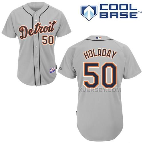 http://www.xjersey.com/tigers-50-bryan-holaday-grey-cool-base-jerseys.html TIGERS 50 BRYAN HOLADAY GREY COOL BASE JERSEYS Only $43.00 , Free Shipping!