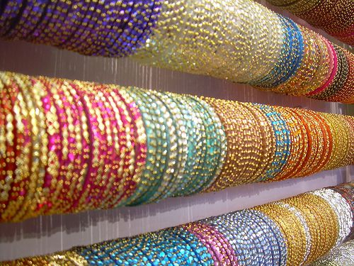 Row of Indian Bangles
