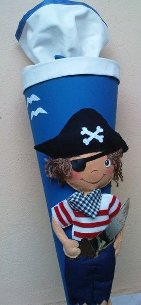 "Schultüte ""Pirat"" von JOYARTS auf DaWanda.com"