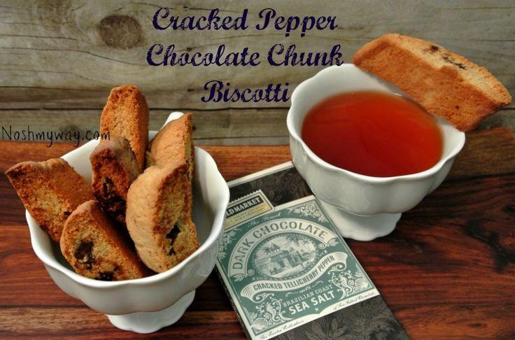 Cracked Pepper Chocolate Chunk Biscotti Recipe