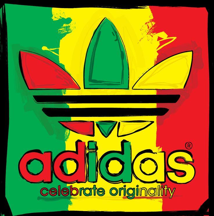 Adidas Red Yellow-Green Logo
