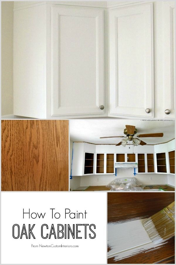 How To Paint Oak Cabinets from NewtonCustomInteriors.com.  Great tips for filling in oak grain so that you have a nice smooth finish on your cabinets!