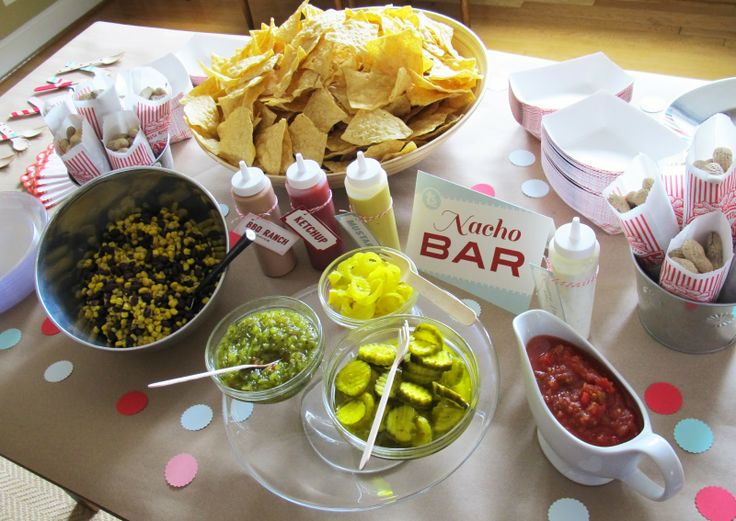 love and lion: the cutest baseball themed bridal shower - food set up