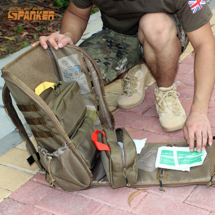 SPANKER Tático MOLLE Assalto Mochila Militar Mochila Kit de Primeiros Socorros de Emergência Médica De Combate Mochila Sacos de Caça Ao Ar Livre