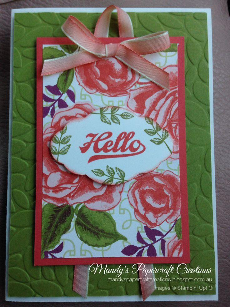 Hello card, with Petal Garden DSP