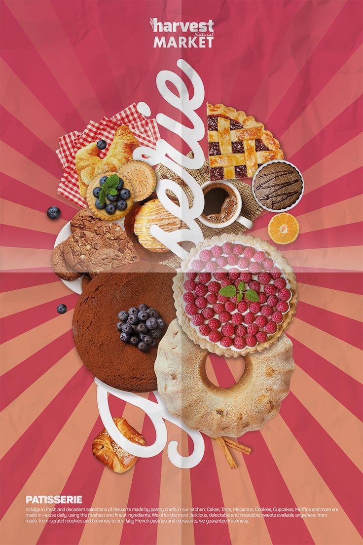 Harvest Natural Market Afiş Tasarım - Pasta Departmanı
