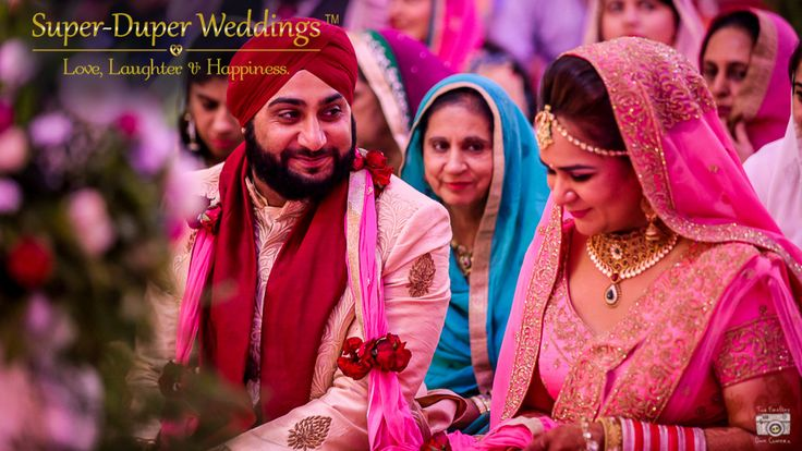 """When you smile with your life partner, the world stops and stares for a while"". Keeping smiling on Super-Duper Weddings can create such an amazing atmosphere for you and your guests.  Check out their services on the link below... http://www.superduperweddings.com/ #punjabiwedding #sikhwedding  #bigfatindianwedding #weddingphotography #weddingideas #brideandgroom #bride #indianbride #instalove #instalike #instabride #instawedding #delhiwedding #couplephotography #prettybride #brideinpink"