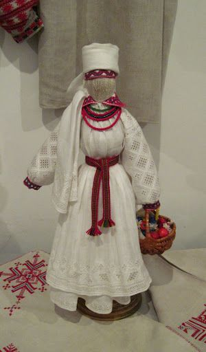 The doll in the traditional clothing of Rivne region, Ukraine. Yuri Melnychuk's work.
